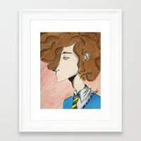 afro Framed Art Prints featuring Afro by Michaela Louise Kelly