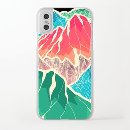 The glowing rocks of the mountains Clear iPhone Case