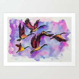 With Flying Colours Art Print