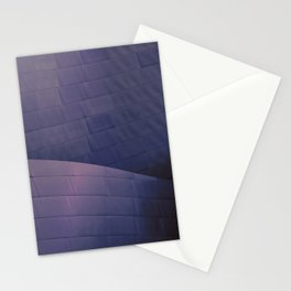 Architectural abstract of the home of the LA Philharmonic in blue and rose. Architect: Frank Gehry Stationery Cards