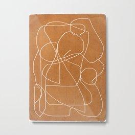 Abstract line art 17 Metal Print