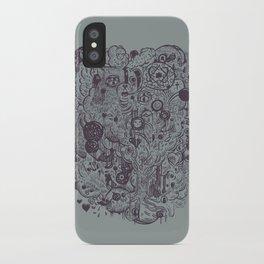 Polyphobic Vomit iPhone Case
