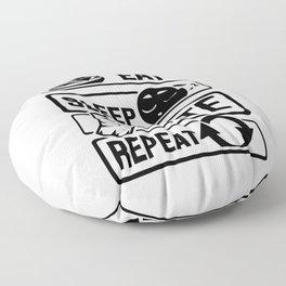 Eat Sleep Karate Repeat - Martial Arts Defence Floor Pillow