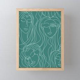 Green Ladies Framed Mini Art Print