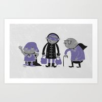 superheroes Art Prints featuring Superheroes! by monrix