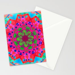 Abstract Flower ZZ WWW AA Stationery Cards