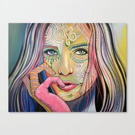 Abstract Art Women Portrait Painting ... Soul of Sunshine Canvas Print