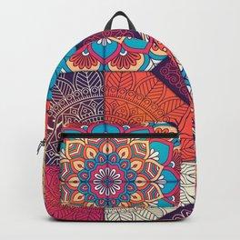 Colorful Mosaic Boho Design Backpack