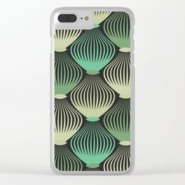 Ornamental cages green pattern Clear iPhone Case