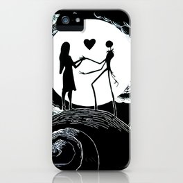 Jack and sally Nightmare iPhone Case