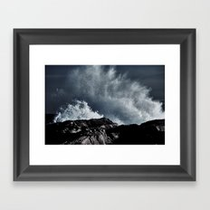 Edited Waves Framed Art Print