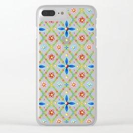 Millefiori Heraldic Lattice Clear iPhone Case