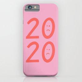 2020 Unhappy Emoji Year iPhone Case