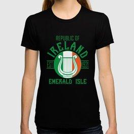 Irish Harp Flag Paddy's Day Gift Shirt T-shirt