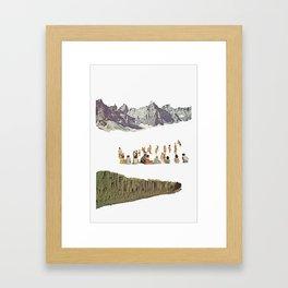 Mountain Mirror Framed Art Print