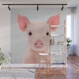 Piglet - Colorful Wall Mural