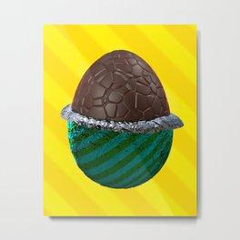 Foiled Egg Metal Print