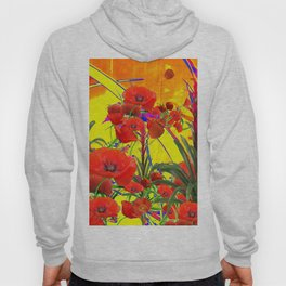 MODERN TROPICAL FLOWERS GARDEN DESIGN IN YELLOW-ORANGE COLORS Hoody