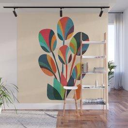 Ikebana - Geometric flower Wall Mural