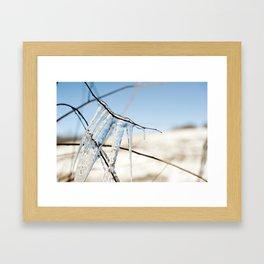 Icicles at Indian Lake Framed Art Print