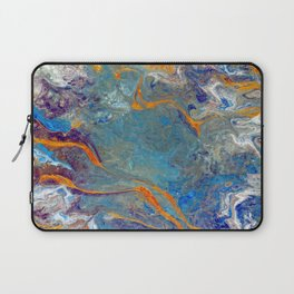 Fire and Ice 2 - Flow Acrylic Abstract Laptop Sleeve