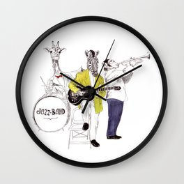 Bestial jazz-band Wall Clock