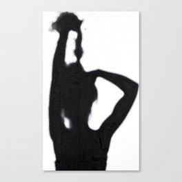 Shadow Hair Pulling Canvas Print