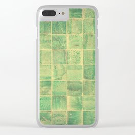 Jade Tiles Clear iPhone Case