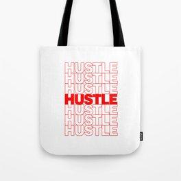 Hustle Thank You Plastic Bag Typography Tote Bag