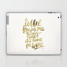 Coffee & Wine – Gold Laptop & iPad Skin