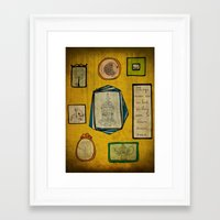 frames Framed Art Prints featuring Frames by Duru Eksioglu