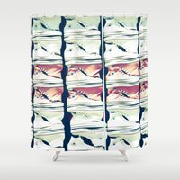 converse Shower Curtains featuring Wall of Converse by Renee Ansell