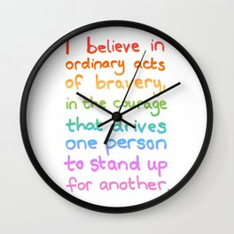 Ordinary Acts of Bravery - Divergent Quote Wall Clock