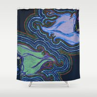 misfits Shower Curtains featuring Misfits by Labartwurx