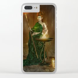 Green Witch Clear iPhone Case
