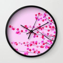 Pink cherry blossom Wall Clock