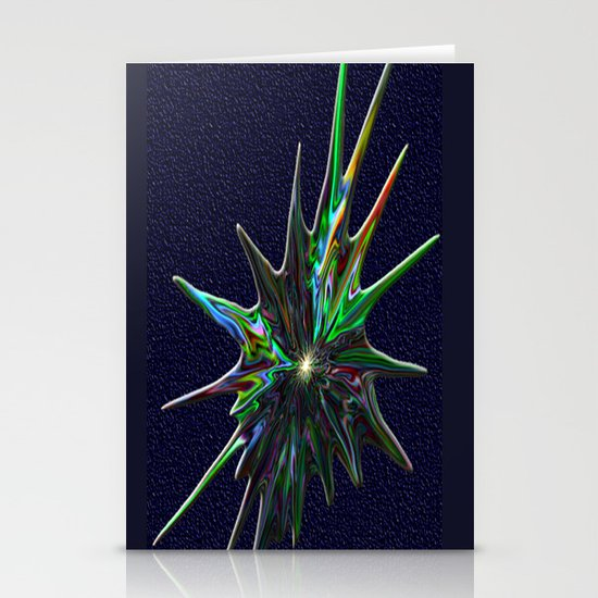 Fractal Splash Stationery Cards
