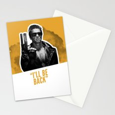 Badass 80's Action Movie Quotes - The Terminator Stationery Cards