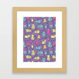 Bright cats Framed Art Print