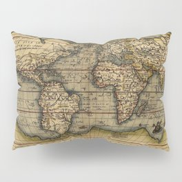 Old World Map print from 1564 Pillow Sham