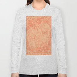 Ghostly alpacas with mandala in peach echo Long Sleeve T-shirt
