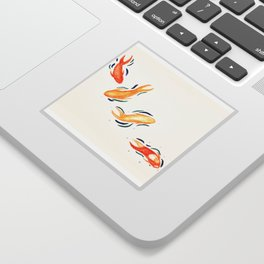 Dancing Koi Sticker