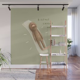 Bigfoot Caught on Tape Wall Mural