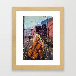 Amsterdam Cello Player Framed Art Print