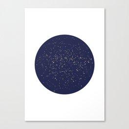 Star Map Blue Canvas Print