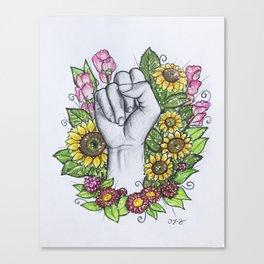 """S"" ASL alphabet series Canvas Print"