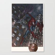 Spiderman vs Goblin Canvas Print