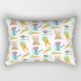Spring Carrot Garden Rectangular Pillow