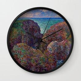 """Claude Monet """"Bloc de rochers à Port-Goulphar"""" Wall Clock"""