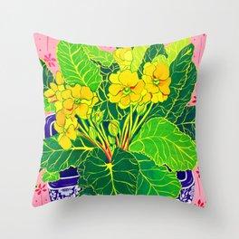 Primula Throw Pillow